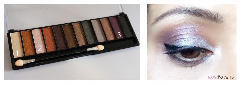 Saffron Eyeshadow palette look