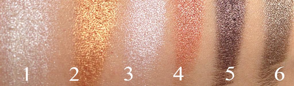 Saffron palette 1-6 swatches