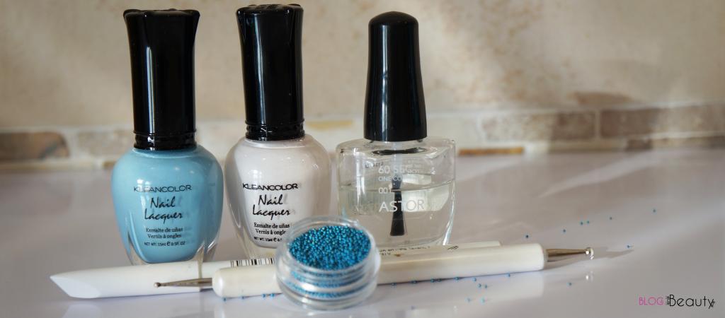 Nailscene Blue Caviar Dots