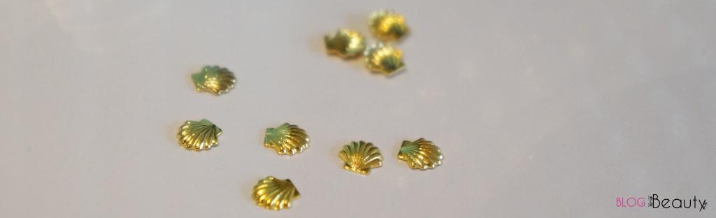 Nailscene Gouden Schelpjes studs