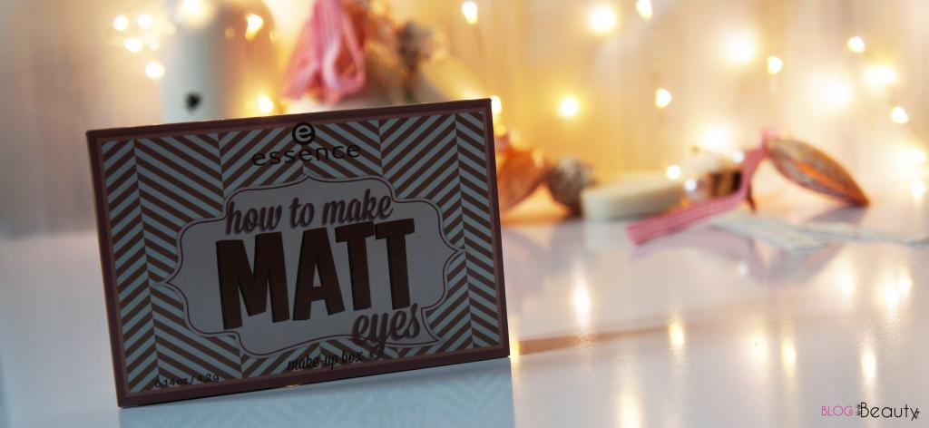 Essence How To Make Matt Eyes