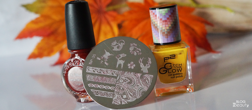 Fall Stample Nail Art 3