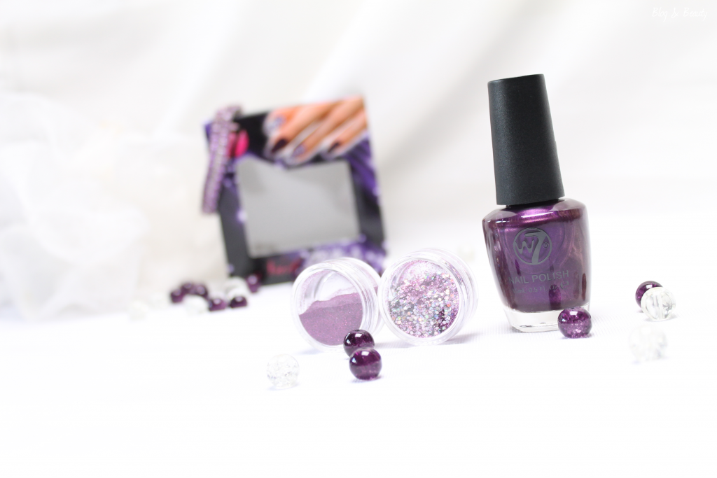 W7 Nail Bling Purple Point 2