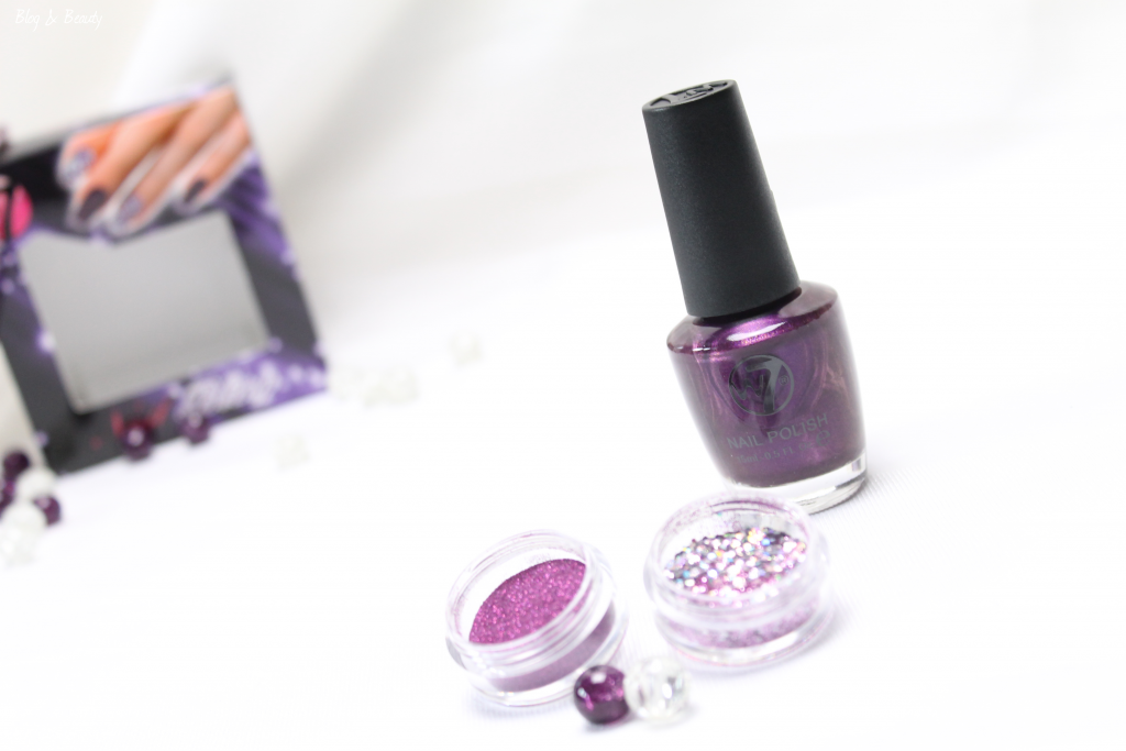 W7 Nail Bling Purple Point 6
