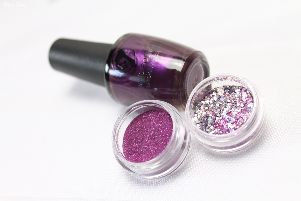 W7 Nail Bling Purple Point 7