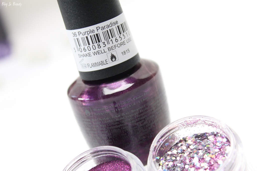 W7 Nail Bling Purple Point 9