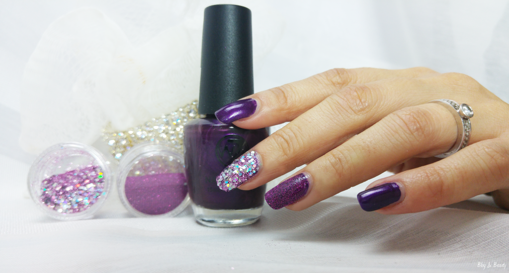 W7 Nail Bling Purple Point Swatches 2