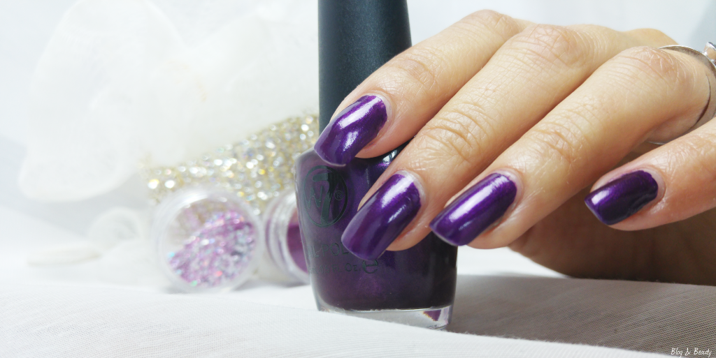 W7 Nail Bling Purple Point Swatches 3