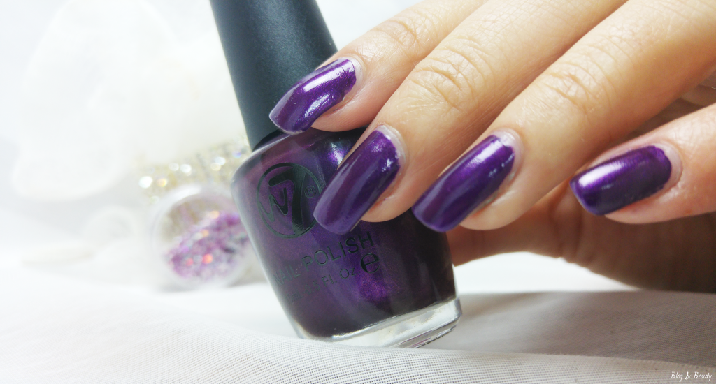 W7 Nail Bling Purple Point Swatches 4