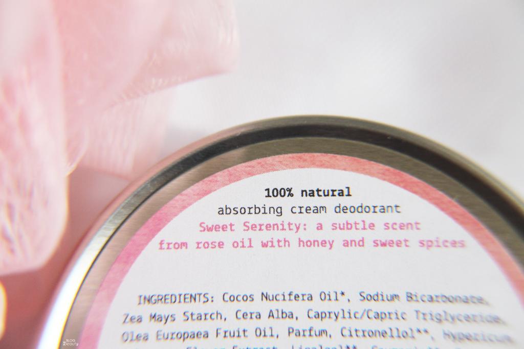 We Love Deodorant Sweet Serenity Ingr
