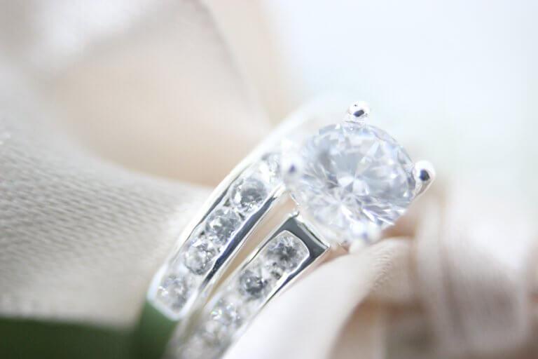 Lucardi Zilveren dubbele ring met zirkonia