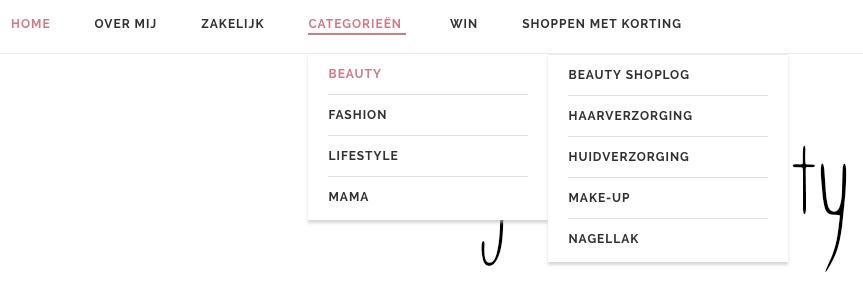 Menu Blog & Beauty